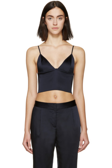 T by Alexander Wang - Navy Satin Finish Bustier