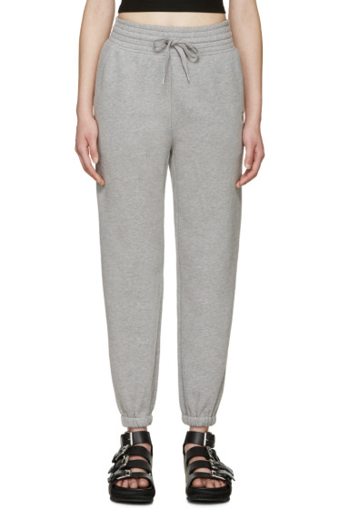 T by Alexander Wang - Grey High-Rise Lounge Pants