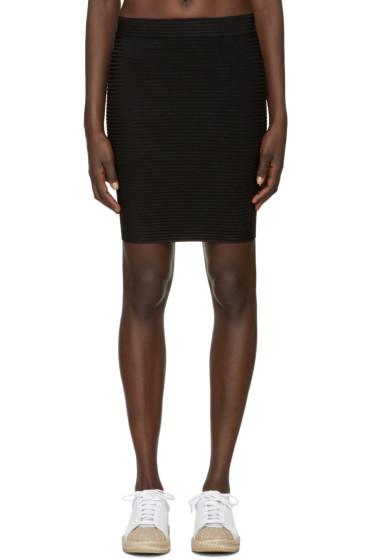 T by Alexander Wang - Black Rib Knit Miniskirt