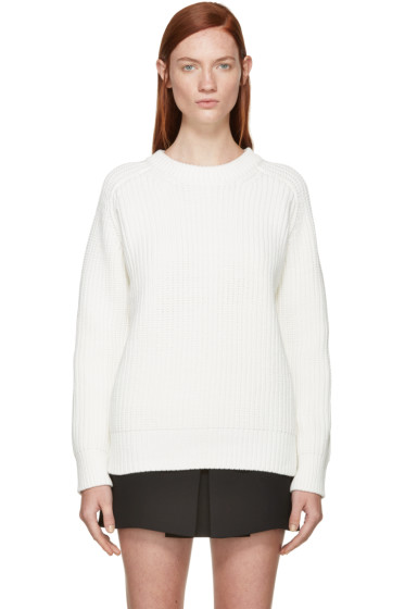 T by Alexander Wang - White Knit Sweater
