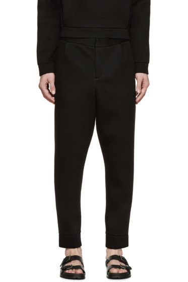 T by Alexander Wang - Black Neoprene Lounge Pants