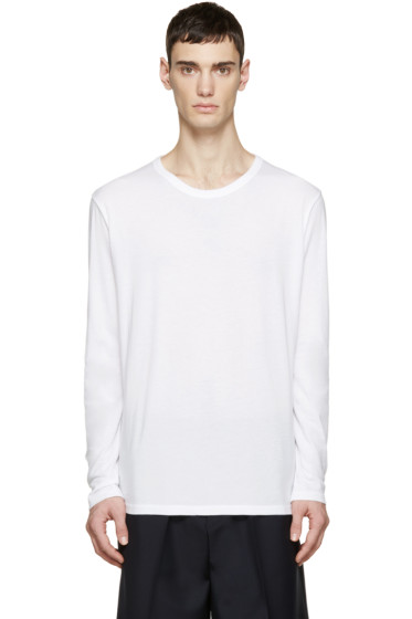T by Alexander Wang - White Long Sleeve T-Shirt