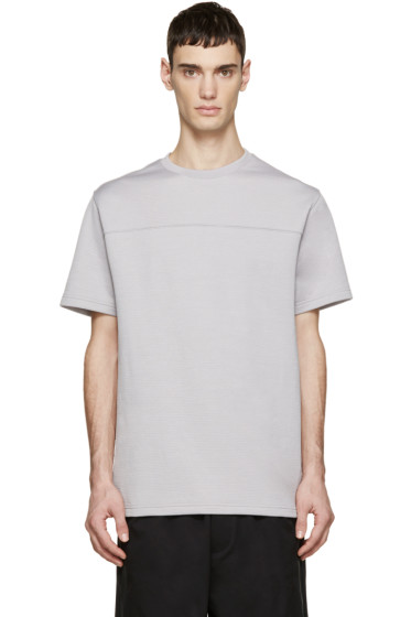 T by Alexander Wang - Grey Perforated T-Shirt