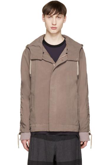 Robert Geller - Brown Nylon Hooded Jacket