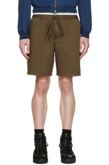 Robert Geller - Khaki Twill Dock Shorts
