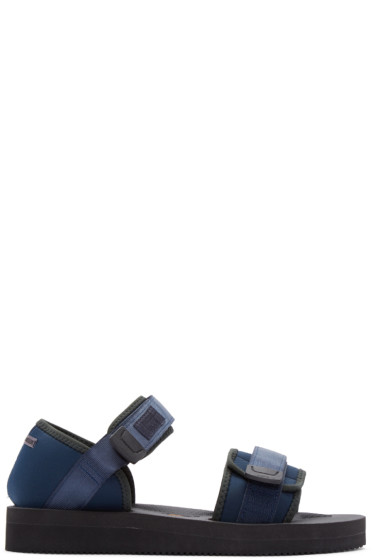 Robert Geller - Navy Suicoke Edition Sandals