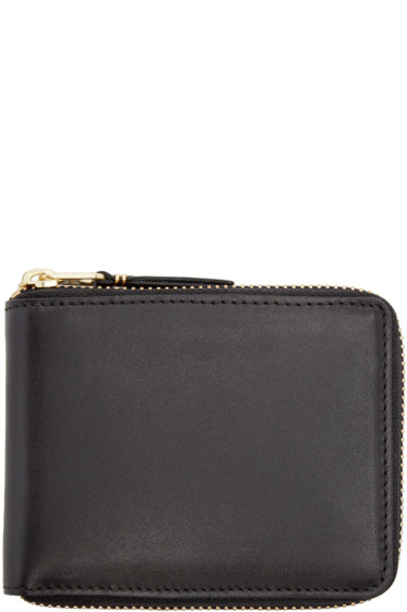 Comme des Garçons Wallets - Black Leather Line 110 Wallet