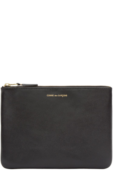 Comme des Garçons Wallets - Black Leather Pouch