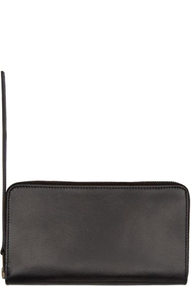 Rick Owens - Black Leather Medium Continental Wallet