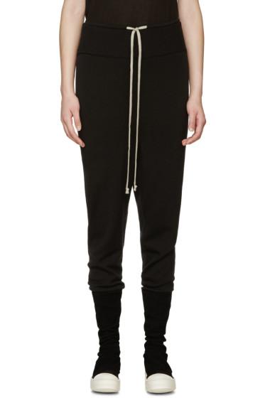 Rick Owens - Black Wool Drawstring Lounge Pants