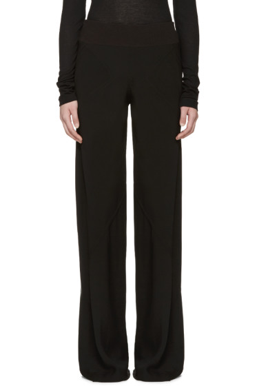 Rick Owens - Black Crepe Bias Trousers