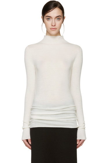 Rick Owens - Off-White Wool Lupetto Sweater