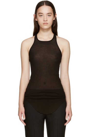 Rick Owens - Black Basic Ribbed Tank Top