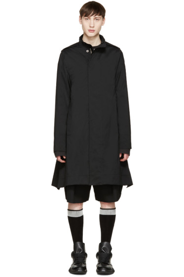 Rick Owens - Black Flared Coat
