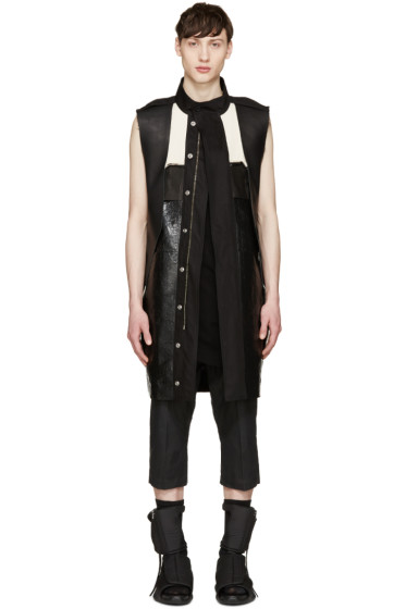 Rick Owens - Black Structured Vest