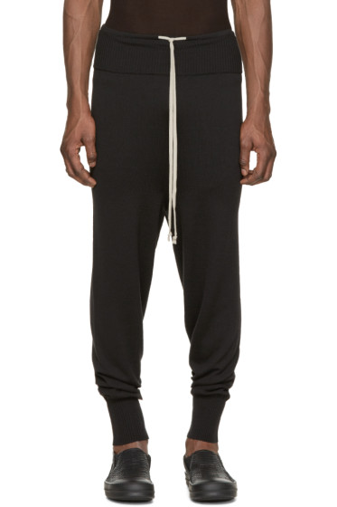 Rick Owens - Black Long Drawstring Lounge Pants