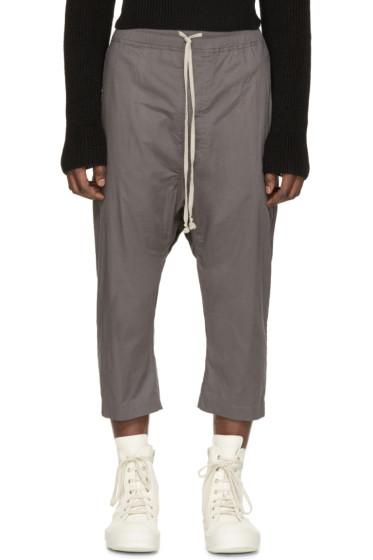 Rick Owens - Grey Cotton Pod Trousers