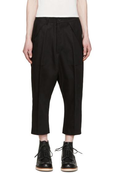 Rick Owens - Black Twill Cargo Trousers