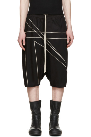 Rick Owens - Black Twill Pods Shorts