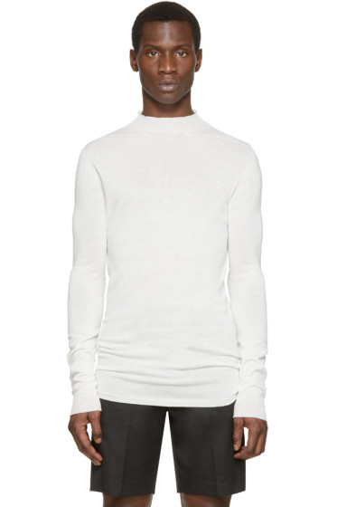 Rick Owens - White Lupetto Pullover