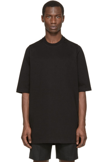 Rick Owens - Black Short Sleeve Sweatshirt