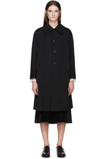 Comme des Garçons - Navy Wool Gabardine Coat
