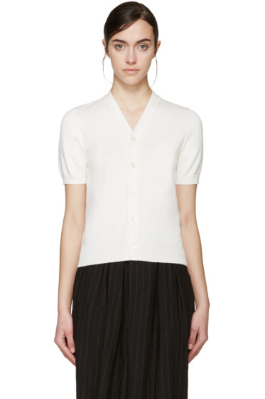 Comme des Garçons - Ivory Short Sleeve Cardigan