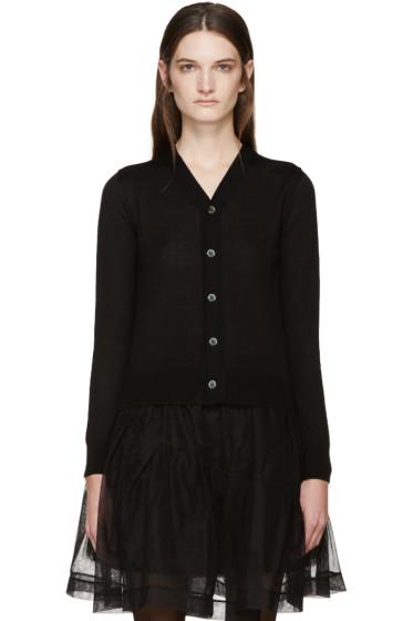 Comme des Garçons - Black Wool Cardigan