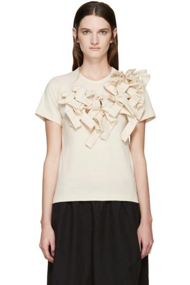 Comme des Garçons - Beige Sculptural Appliqué T-Shirt