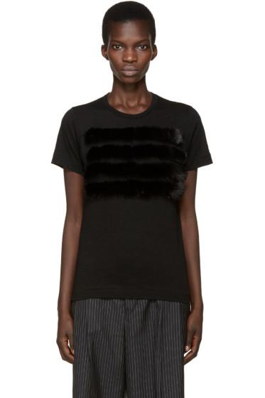 Comme des Garçons - Black Faux-Fur T-Shirt