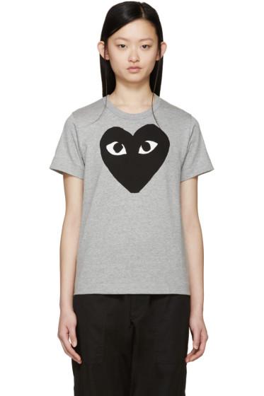 Comme des Garçons Play - Grey Heart T-Shirt
