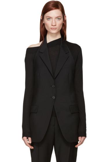 Jil Sander - Black Open-Back Agassi Waistcoat
