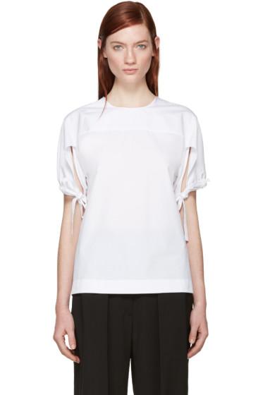 Jil Sander - White Sleeve Tie Blouse