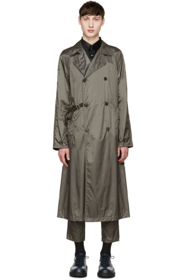 Jil Sander - Grey Nylon Trench Coat