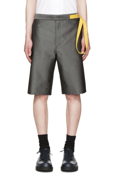 Jil Sander - Grey Parachute Belt Shorts