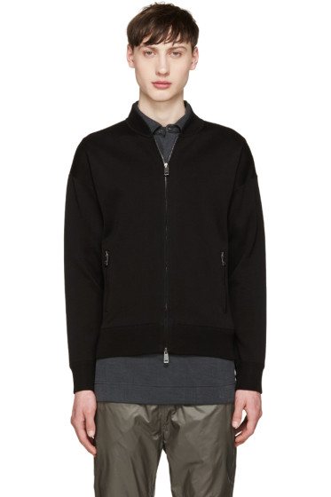 Jil Sander - Black Knit Zip-Up Sweater