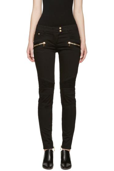 Balmain - Black Skinny Biker Jeans
