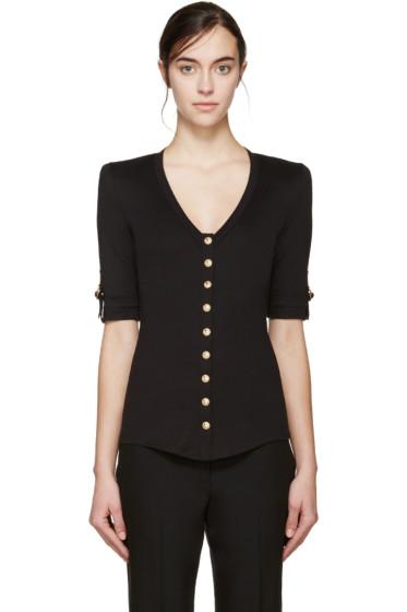 Balmain - Black Button-Down T-Shirt