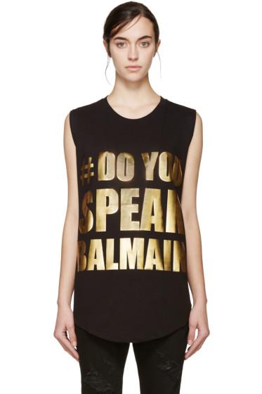 Balmain - Black Do You Speak Balmain T-Shirt