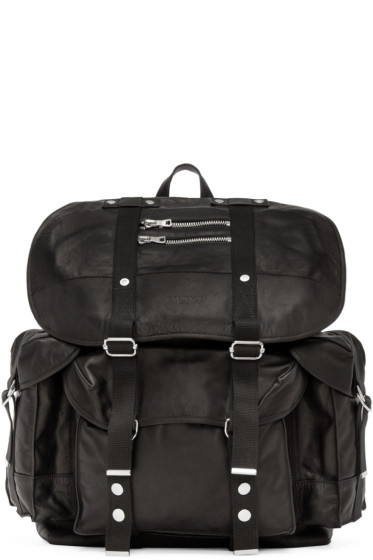 Balmain - Black Leather Backpack