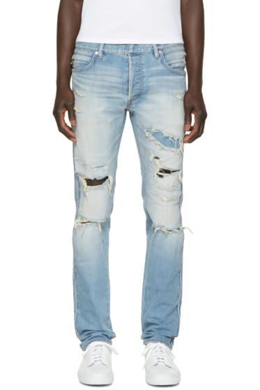 Balmain - Blue Distressed Jeans