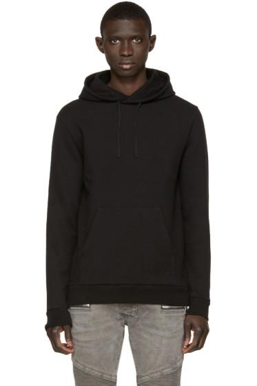 Balmain - Black Side Zip Hoodie