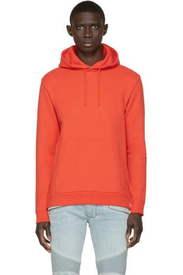 Balmain - Orange Side Zip Hoodie