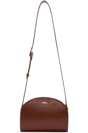 A.P.C. - Brown Demi-Lune Bag