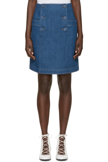A.P.C. - Blue Denim Boat Skirt