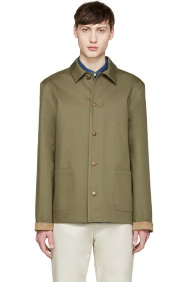 A.P.C. - Khaki Twill Woodstock Jacket