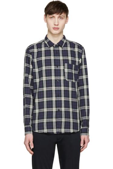 A.P.C. - Navy & Green Check Trevor Shirt