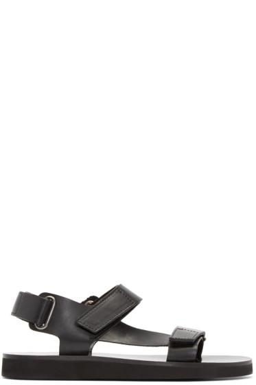 A.P.C. - Black Leather Vlad Sandals