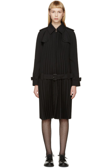 Junya Watanabe - Black Pleated Trench Coat