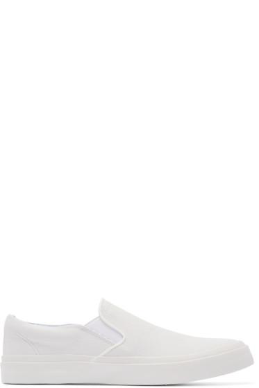 Junya Watanabe - White Leather Slip-On Sneakers